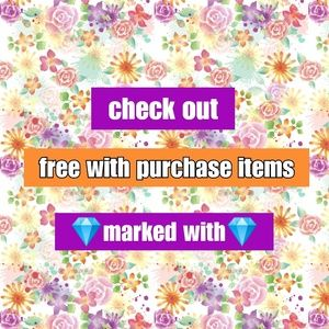 💎marked items free with purchase💎